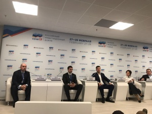 "On the 28th of February, the session ""Young Entrepreneurs: Russia's Newest Heroes"" at the Russian Investment Forum in Sochi, Boris Tkachenko acted as the session moderator"