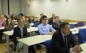 Meeting between a business expert from Emerson LLC and MIRBIS MBA students