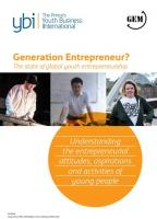 State of Global Youth Entrepreneurship as Analyzed in the Joint Study of YBI Network and GEM