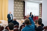 Case study session on mentoring in entrepreneurship at Youth and Small Business Forum in Ryazan